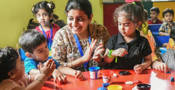 Art-and-Crafts-program-children-Creative-Me-Eden-Castle-Preschool-New-Delhi