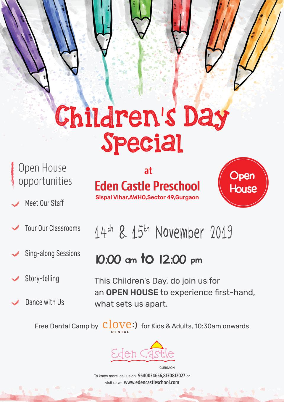 Children's-Day-special-2019-Open-House-Eden-Castle-Preschool-Gurgaon