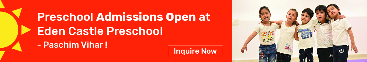Inquire Now Admissions open Preschool in Paschim Vihar